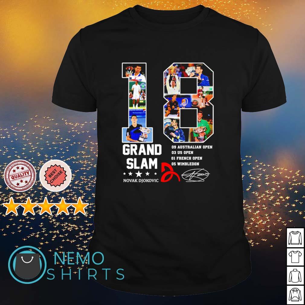 18 years of Grand Slam Novak Djokovic shirt
