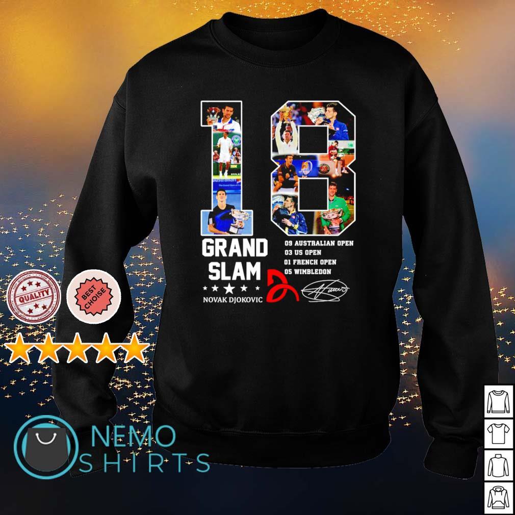 18 years of Grand Slam Novak Djokovic s sweater