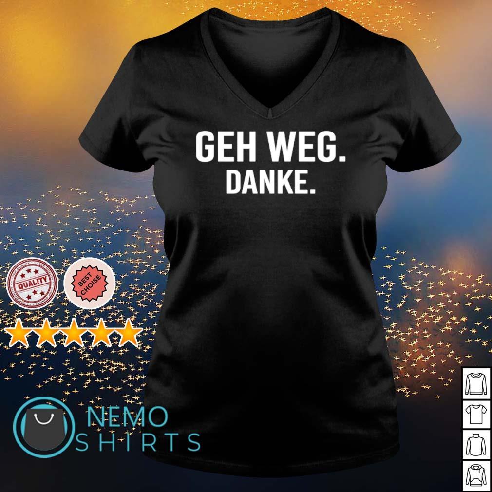 Geh Weg Danke s v-neck-t-shirt