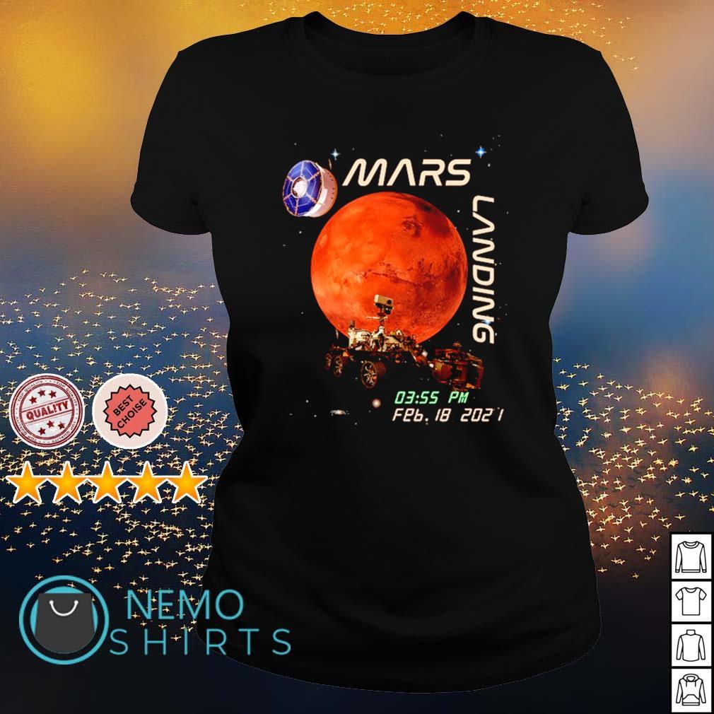 Mars landing February 18 2021 s ladies-tee