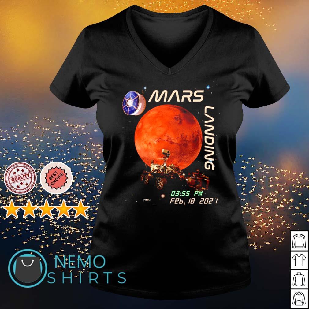 Mars landing February 18 2021 s v-neck-t-shirt