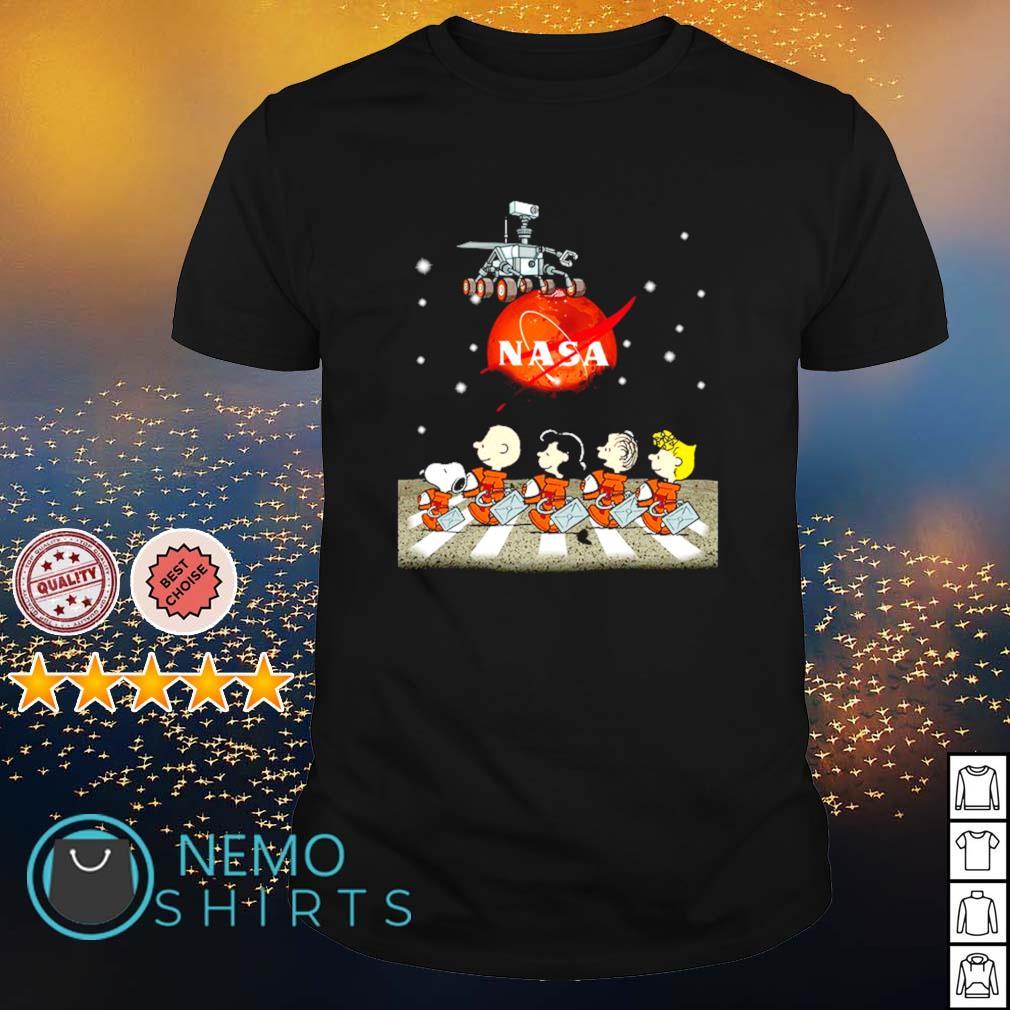 Peanuts characters Abbey Road Mars 2020 shirt