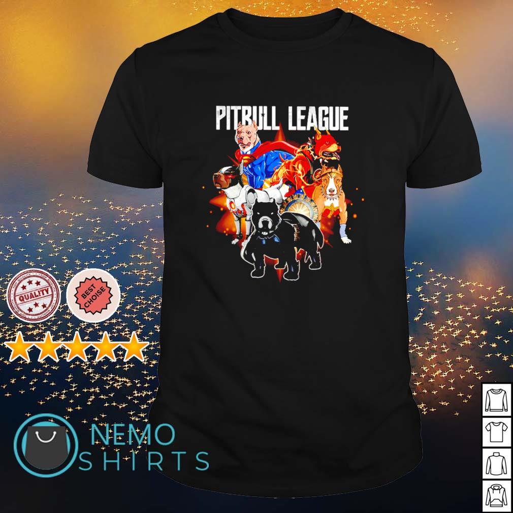 Pitbull League Superheroes shirt