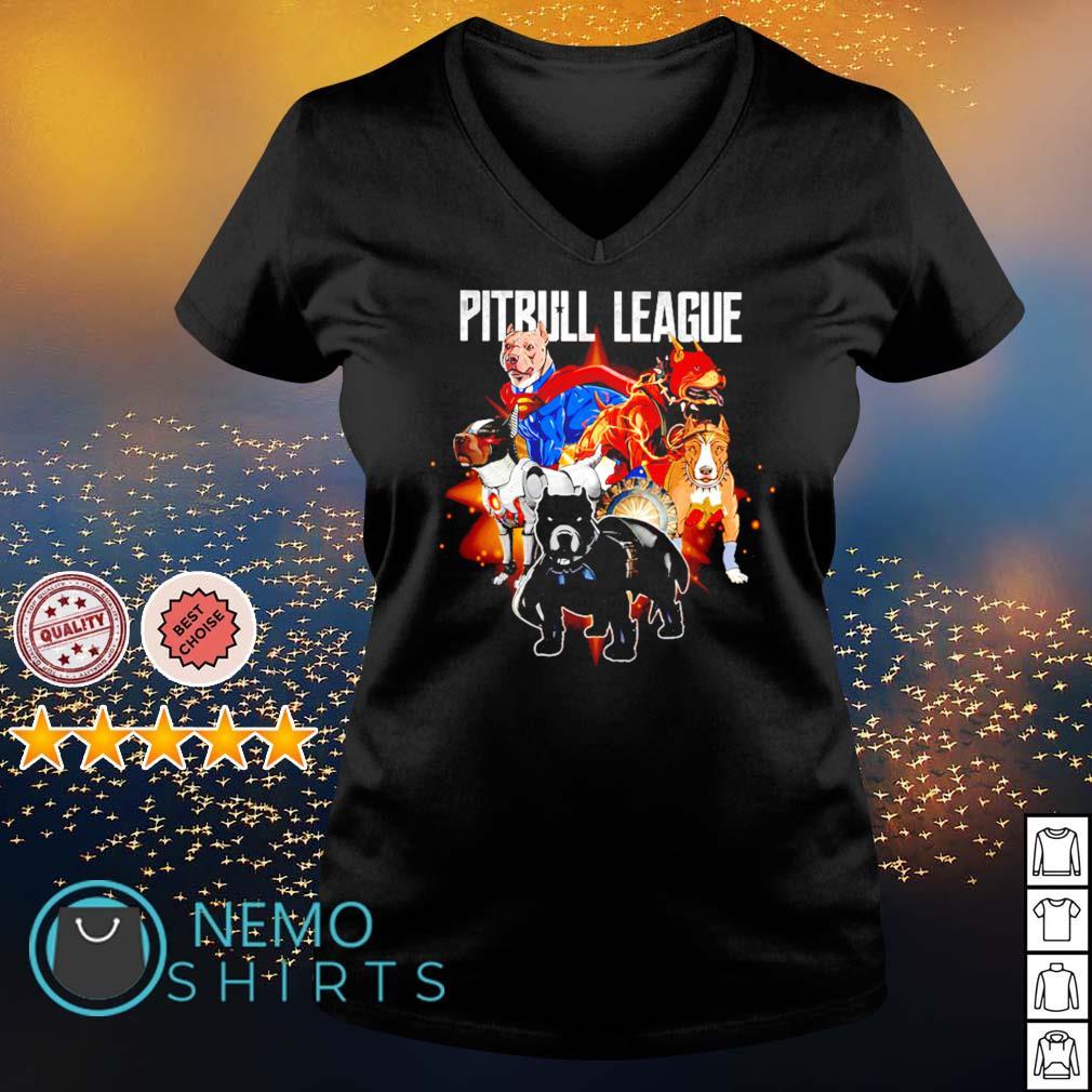 Pitbull League Superheroes s v-neck-t-shirt