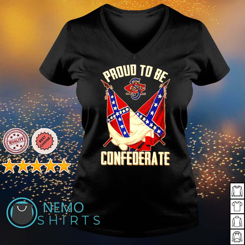 Proud to be Confederate s v-neck-t-shirt