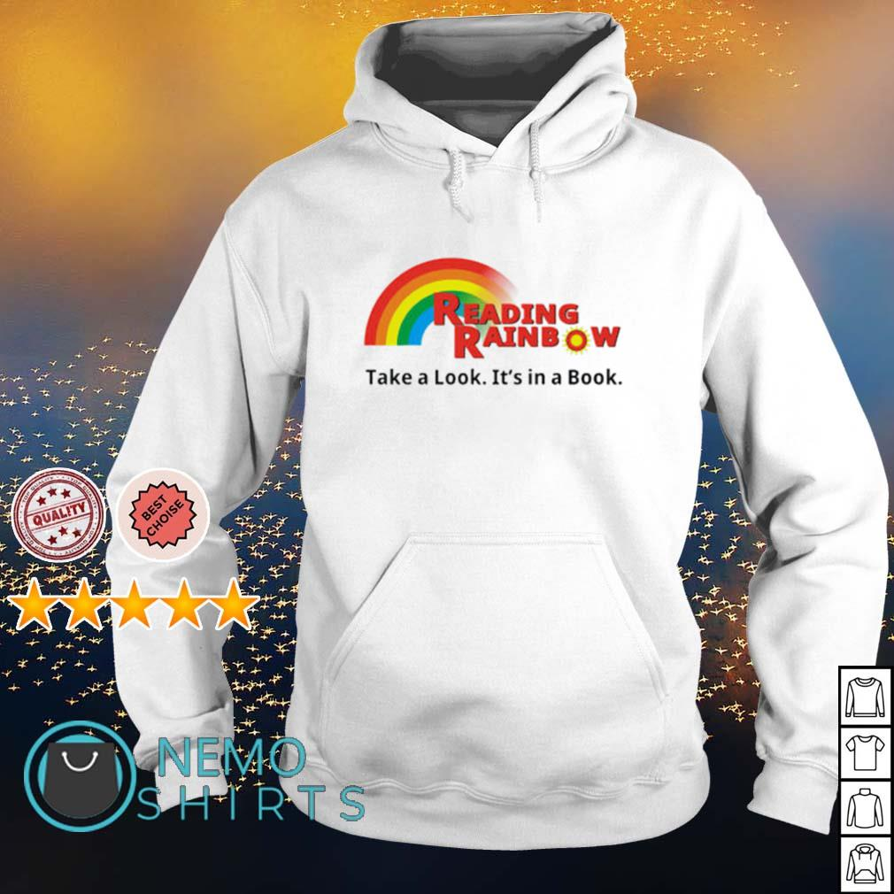 Reading Rainbow take a look it's in a book s hoodie