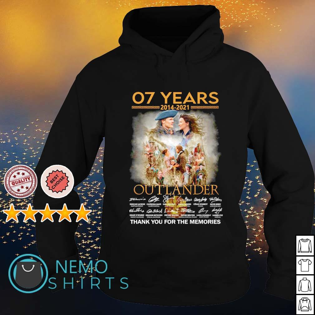 07 years 2014 2021 Outlander thank you for the memories s hoodie