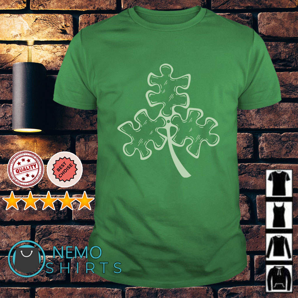 Autism shamrock St Patrick's day Guys shirt