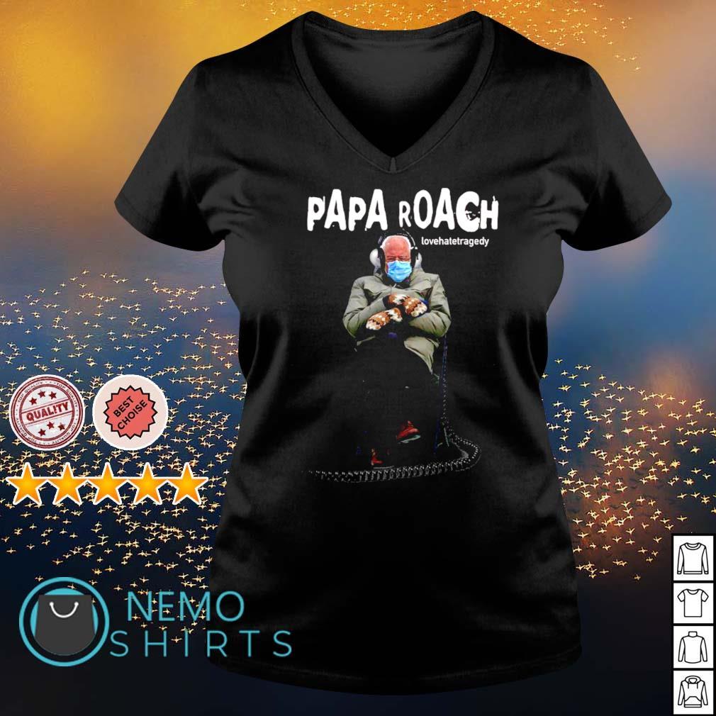 Bernie Sander Papa roach lovehatetragedy s v-neck-t-shirt