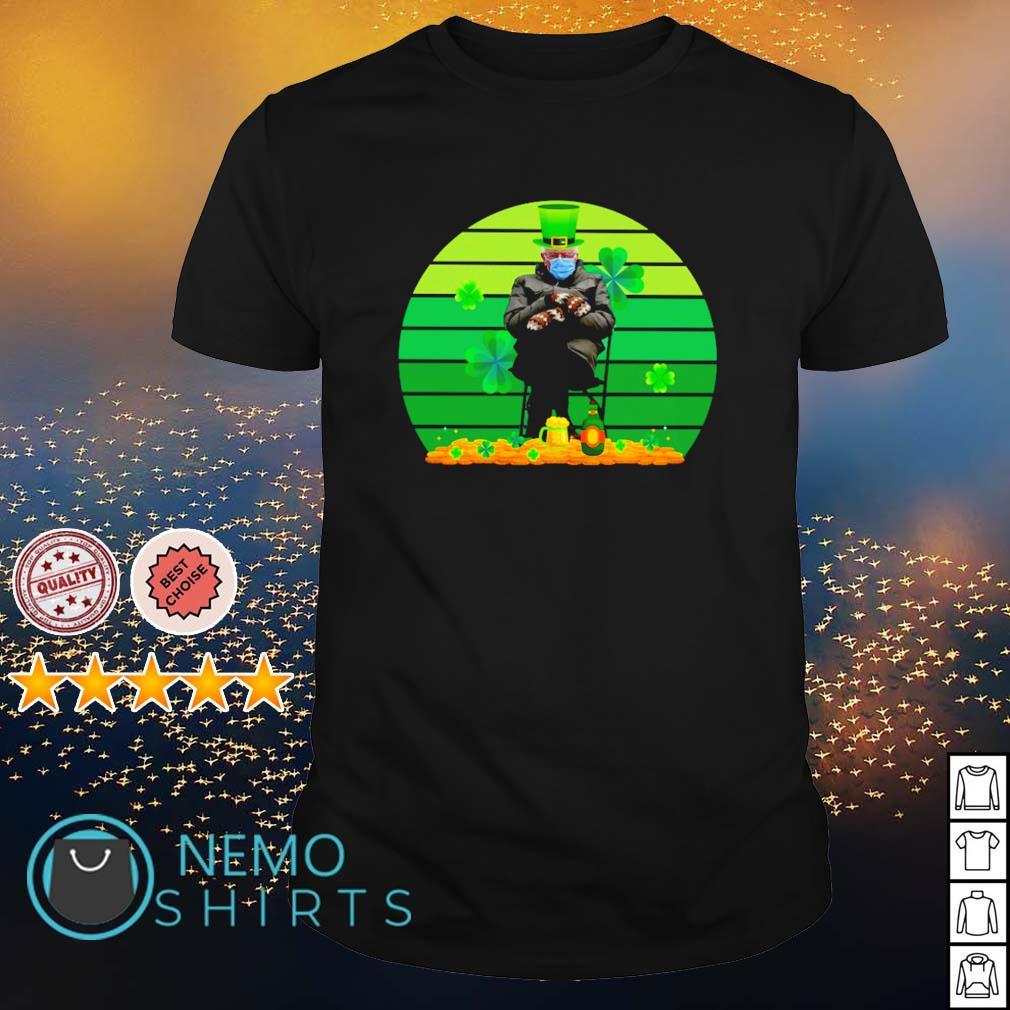 Bernie Sanders mittens shamrock St Patrick's Day shirt