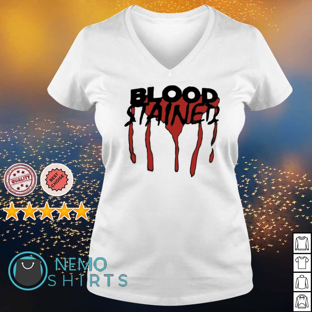 Blood stained s v-neck-t-shirt