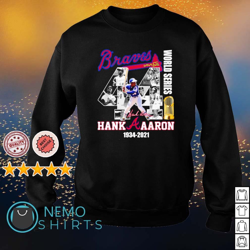Braves Hank Aaron world series 1934 2021 s sweater
