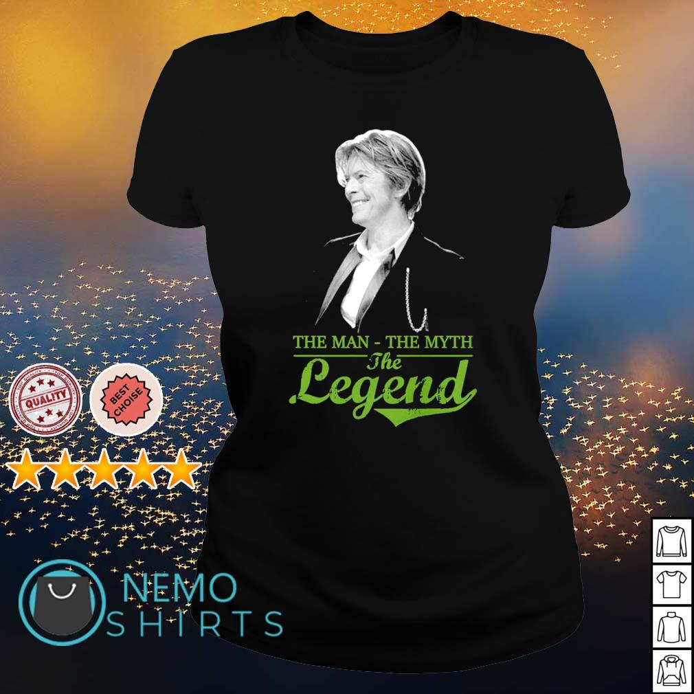 David Bowie the man the myth the legend s ladies-tee