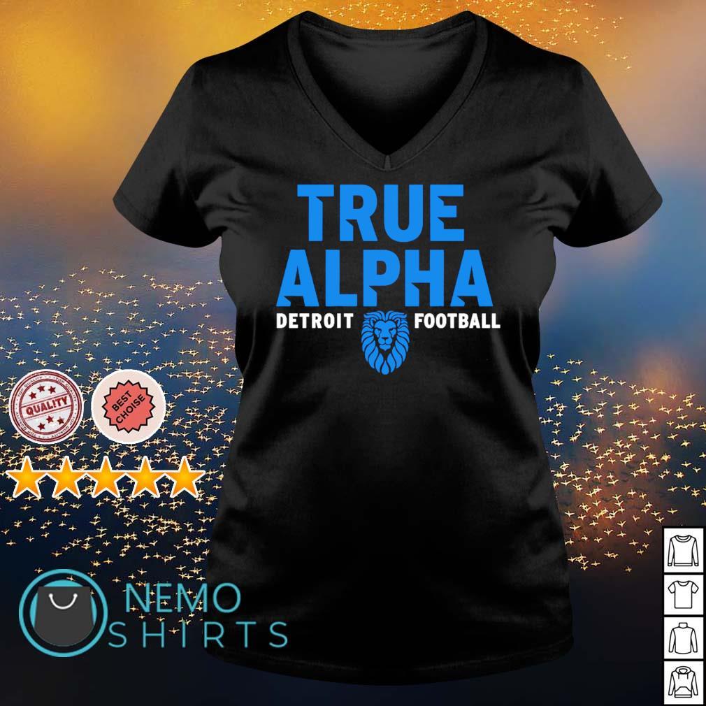 Detroit football Dan Campbell true alpha s v-neck-t-shirt