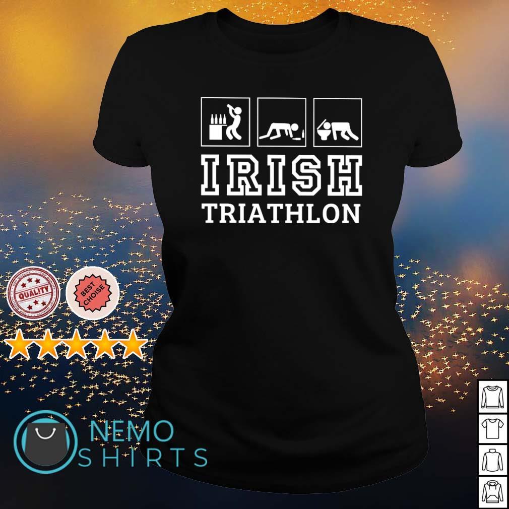 Drunk Irish triathlon s ladies-tee