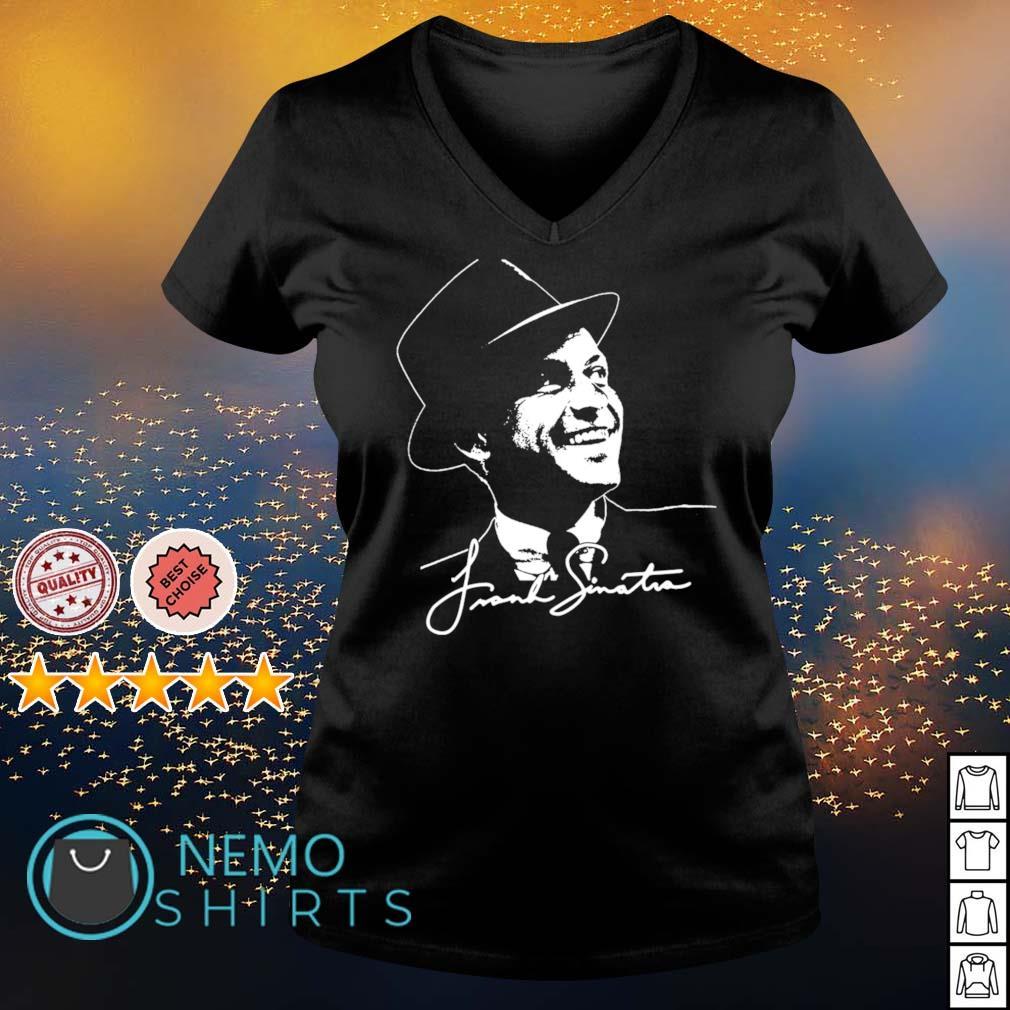 Frank Sinatra signature s v-neck-t-shirt