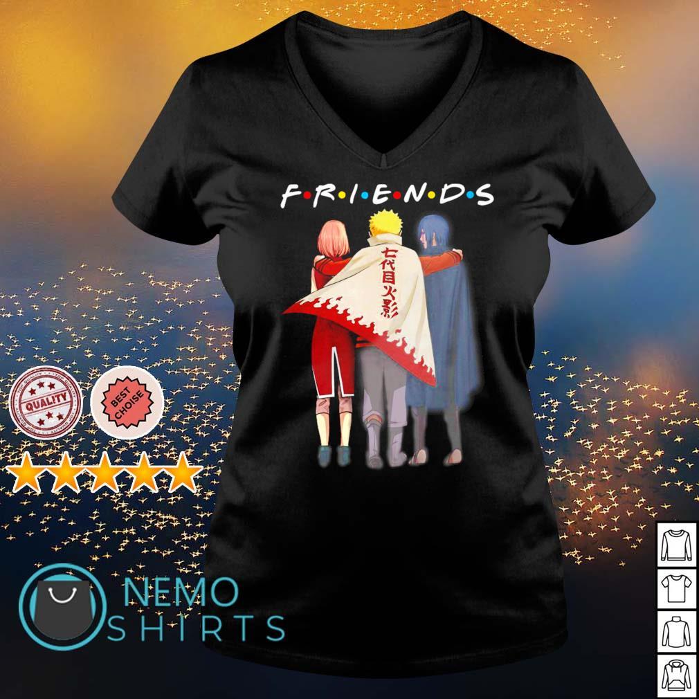 Friends Naruto Sasuke and Haruno Sakura s v-neck-t-shirt