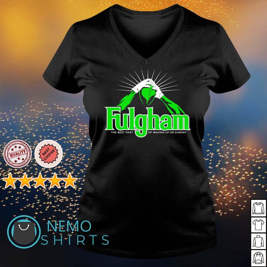 Fulgham the best part of waking up on Sunday s v-neck-t-shirt