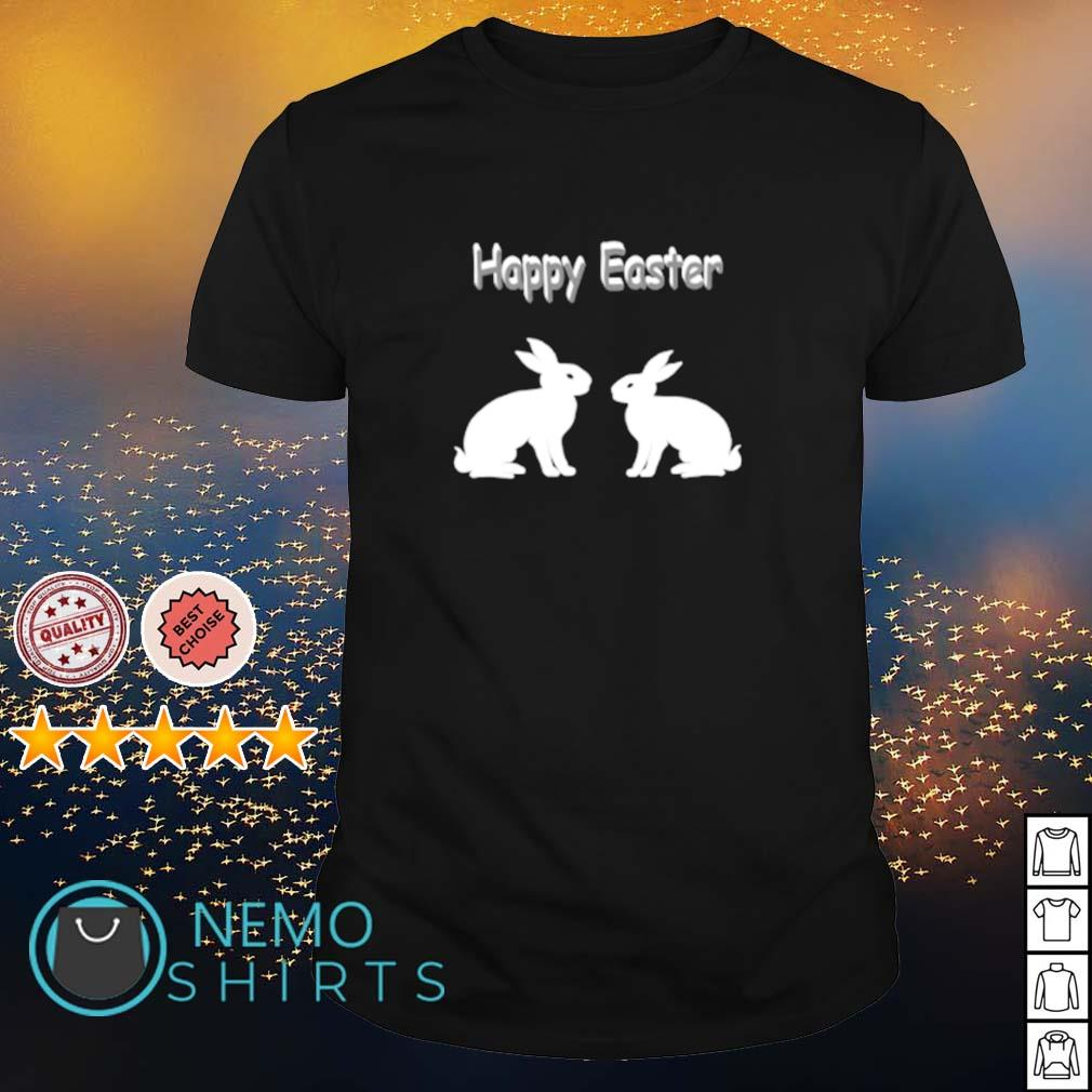 Happy easter with rabbits shirt