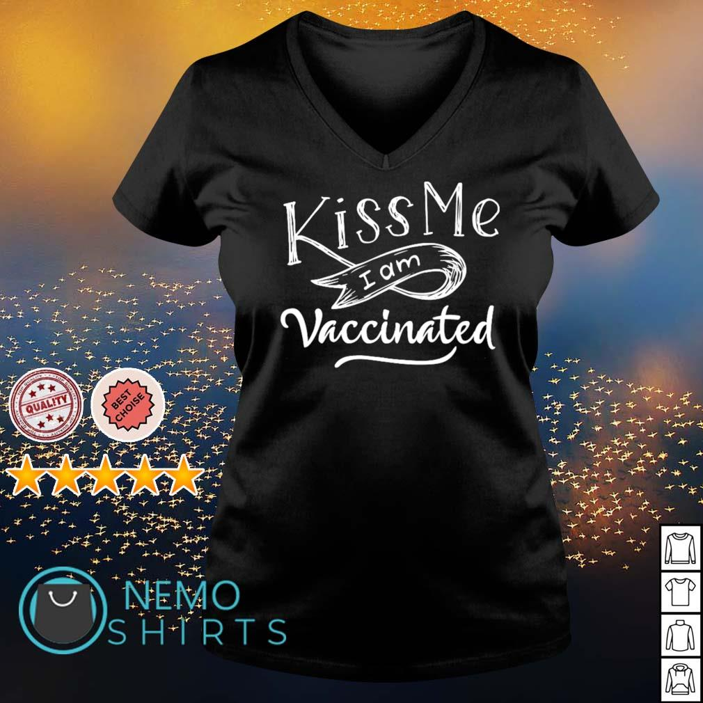 Kiss me I am Vaccinated s v-neck-t-shirt