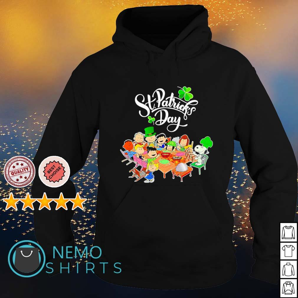 Peanuts characters happy St Patrick's Day s hoodie