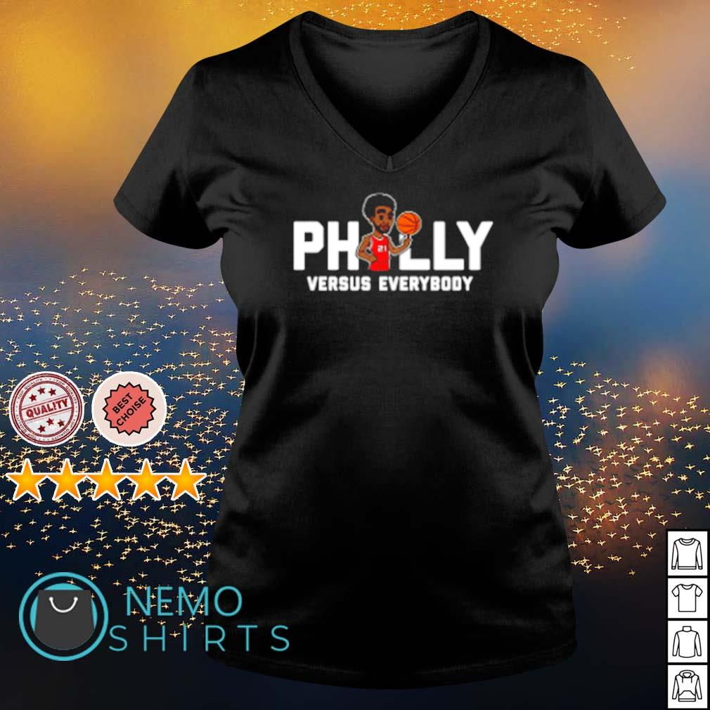 Philly Embiid Versus everybody s v-neck-t-shirt