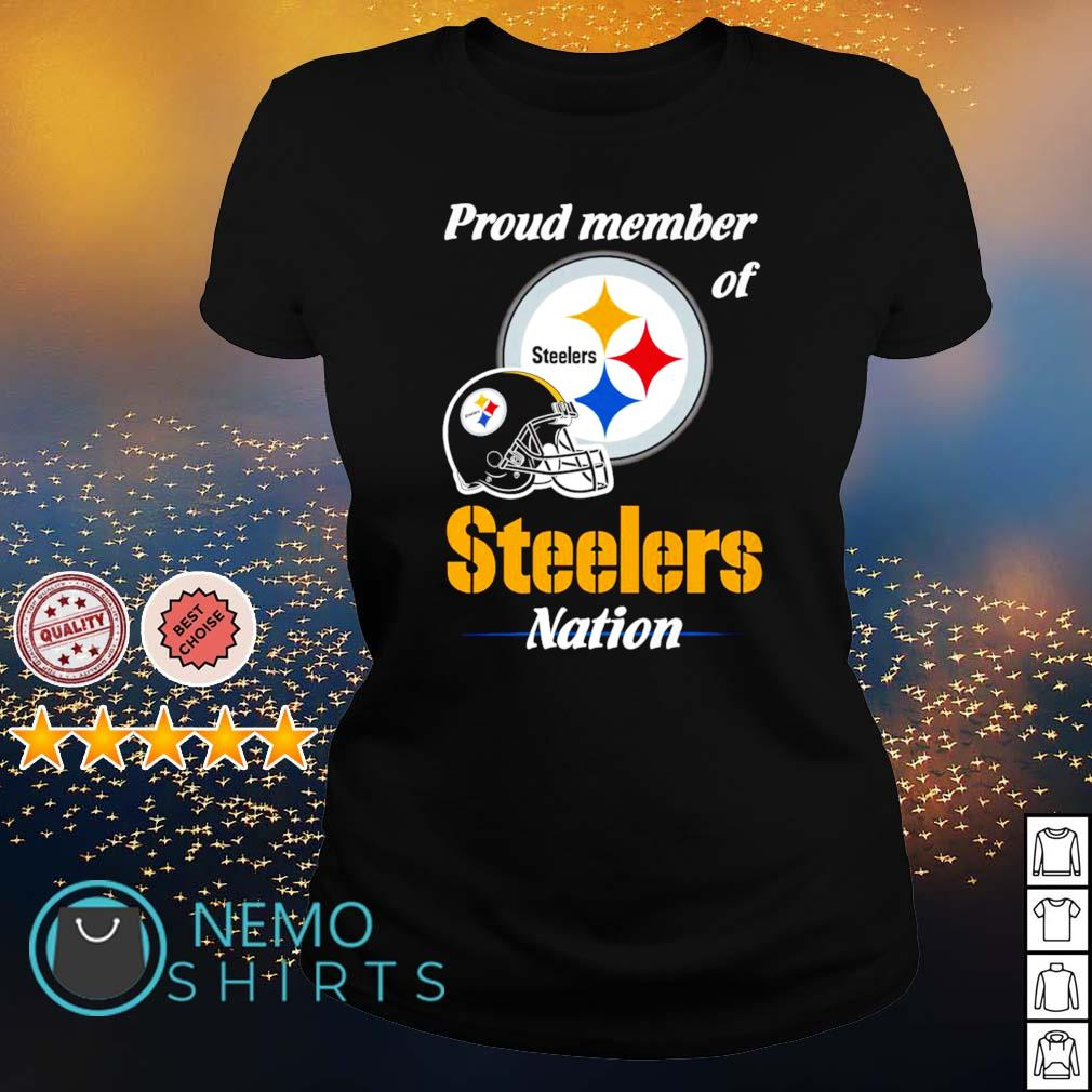 Proud member of Steelers nation s ladies-tee