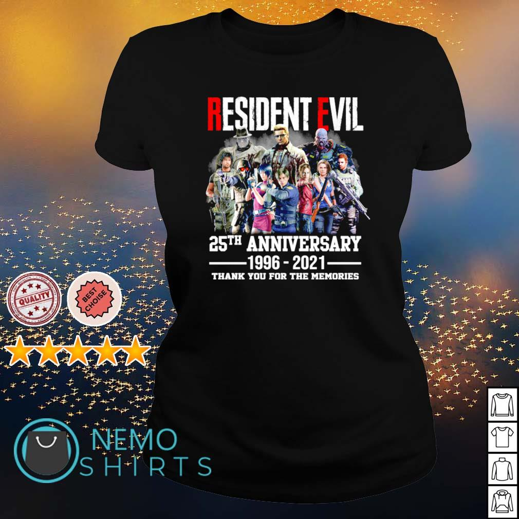 Resident Evil 25th Anniversary 1996 2021 thank you for the memories s ladies-tee