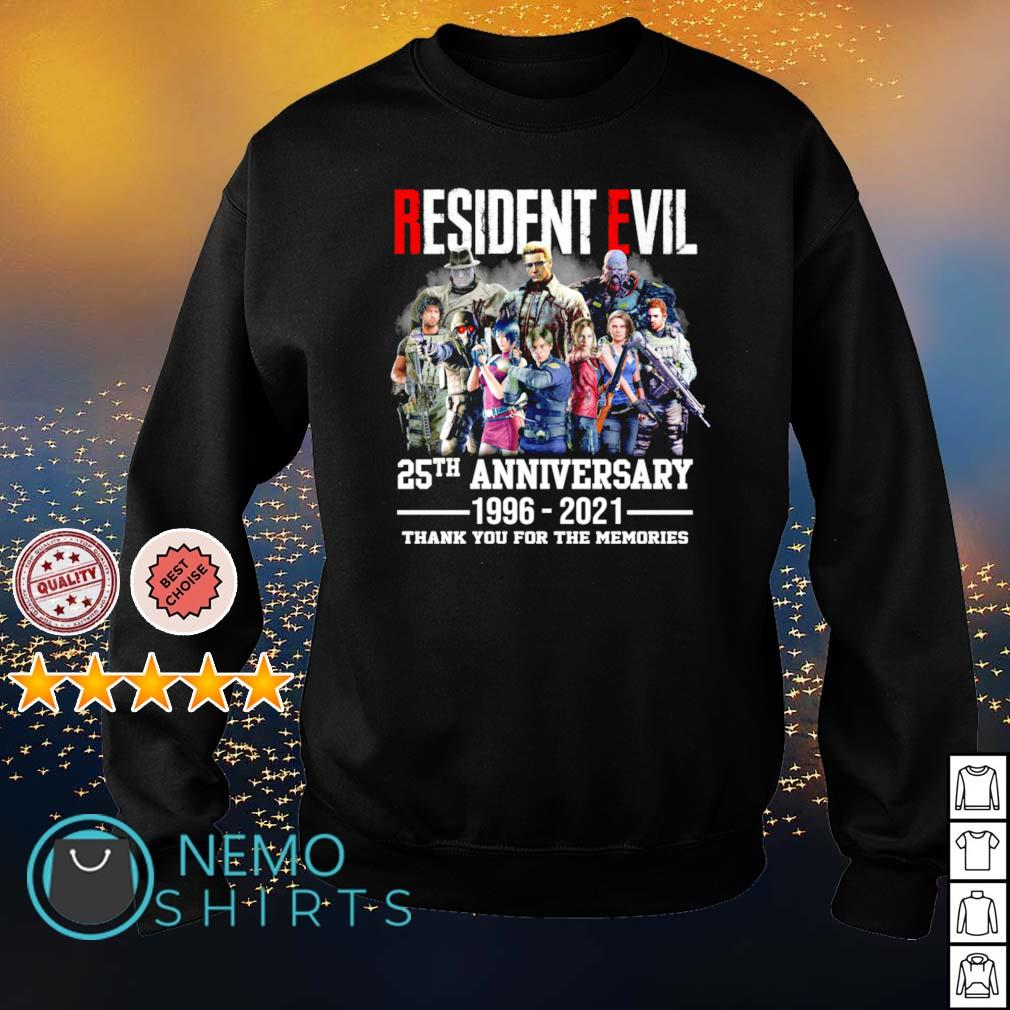 Resident Evil 25th Anniversary 1996 2021 thank you for the memories s sweater