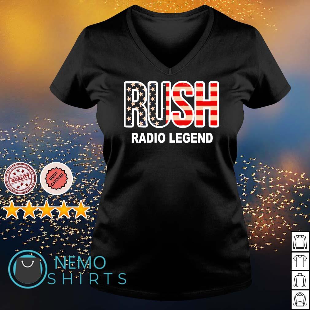 Rush Limbaugh radio legend s v-neck-t-shirt