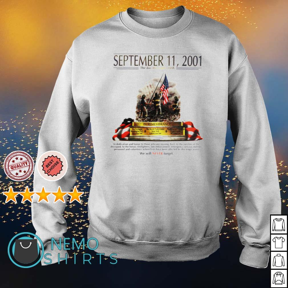 September 11 2001 The day the Eagle cried s sweater