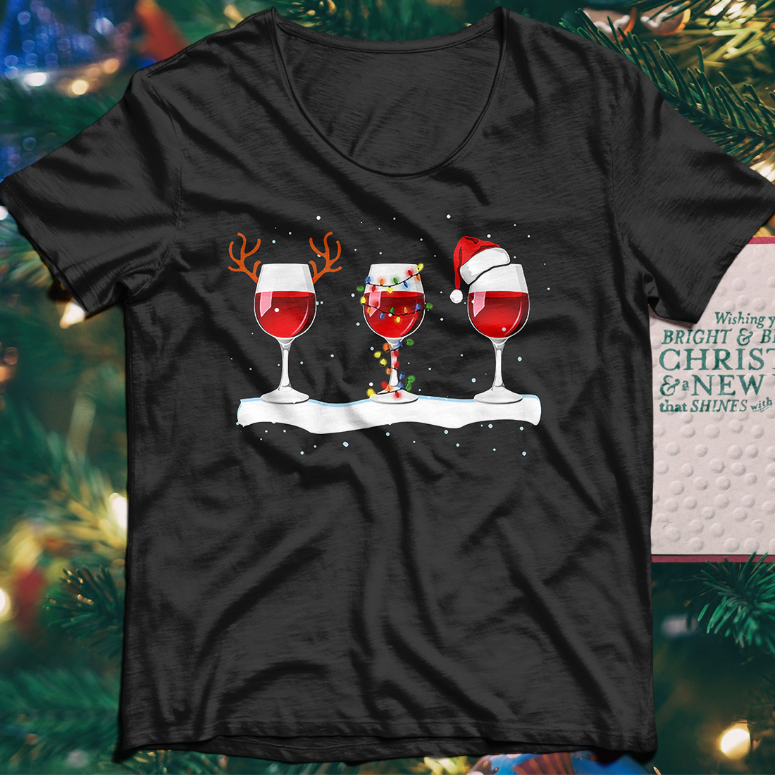 Special Christmas wine shirt