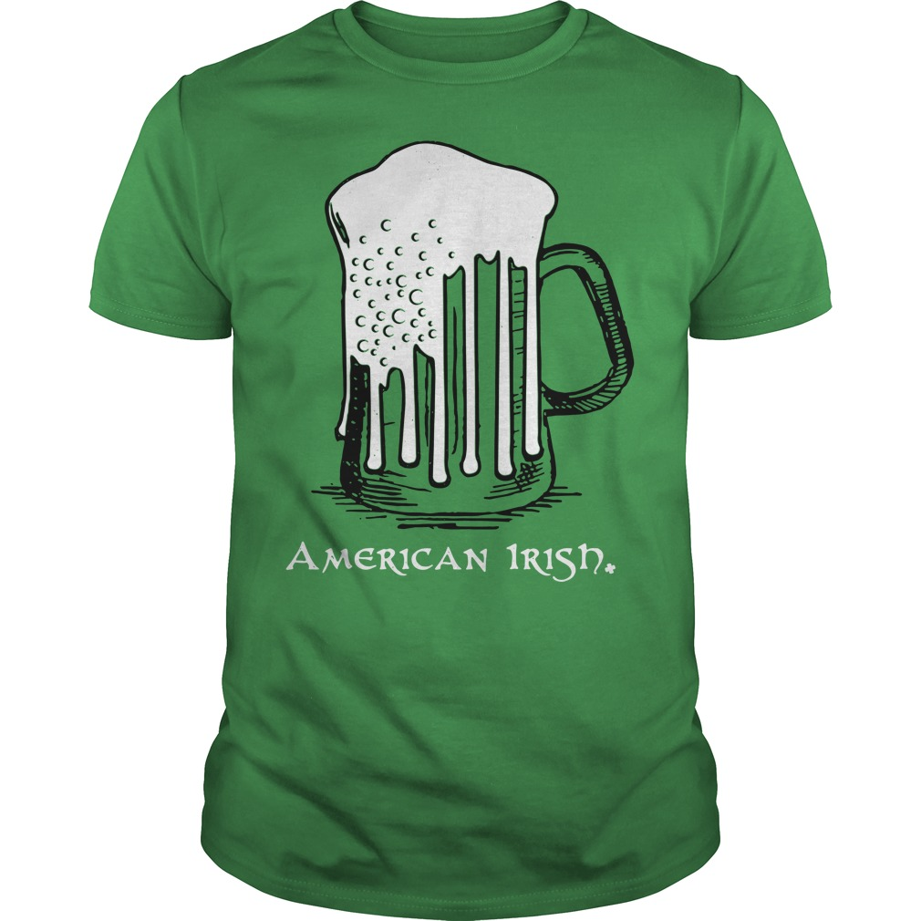 St Patrick's Day beer flag American Irish Guys shirt