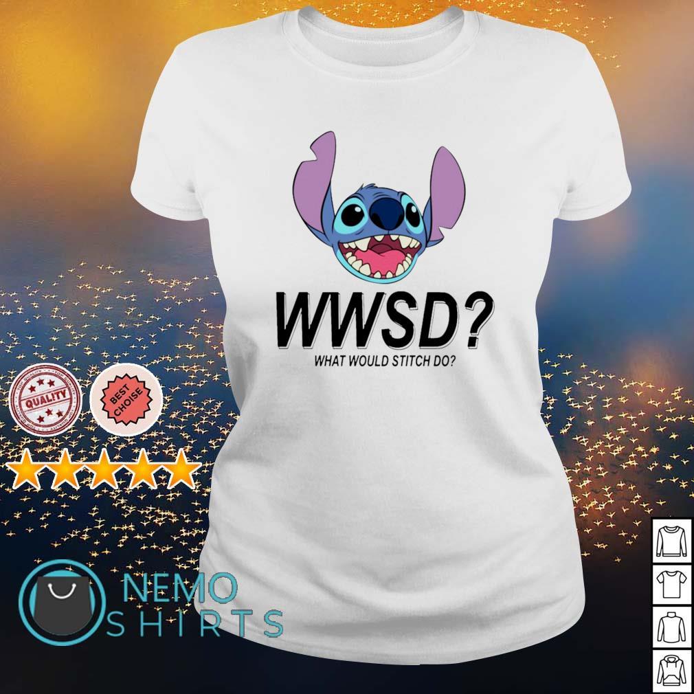 Stitch WWSD what would Stitch do s ladies-tee