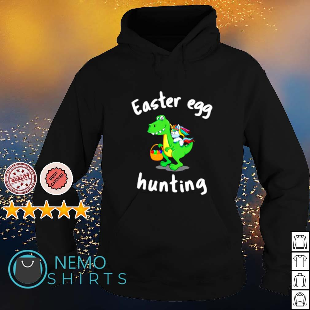 T Rex And Unicorn Easter Egg Hunting s hoodie