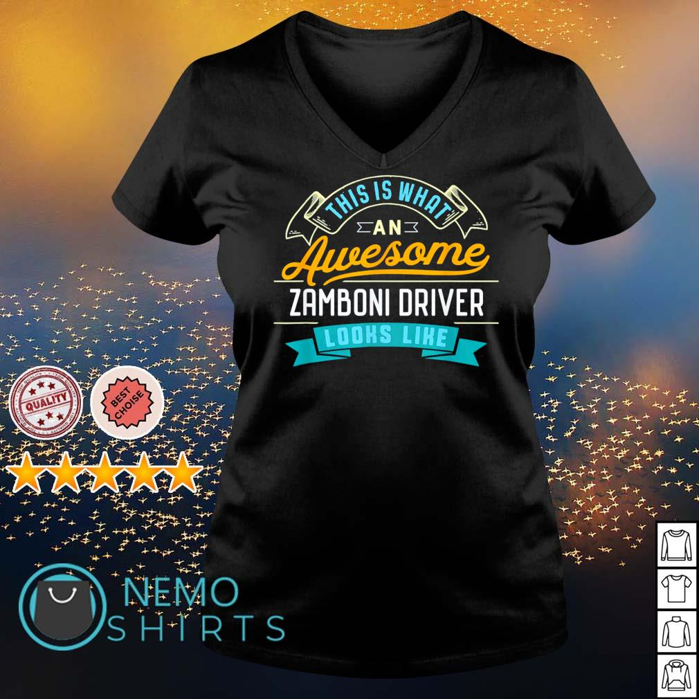 This is what an awesome zamboni driver looks like s v-neck-t-shirt