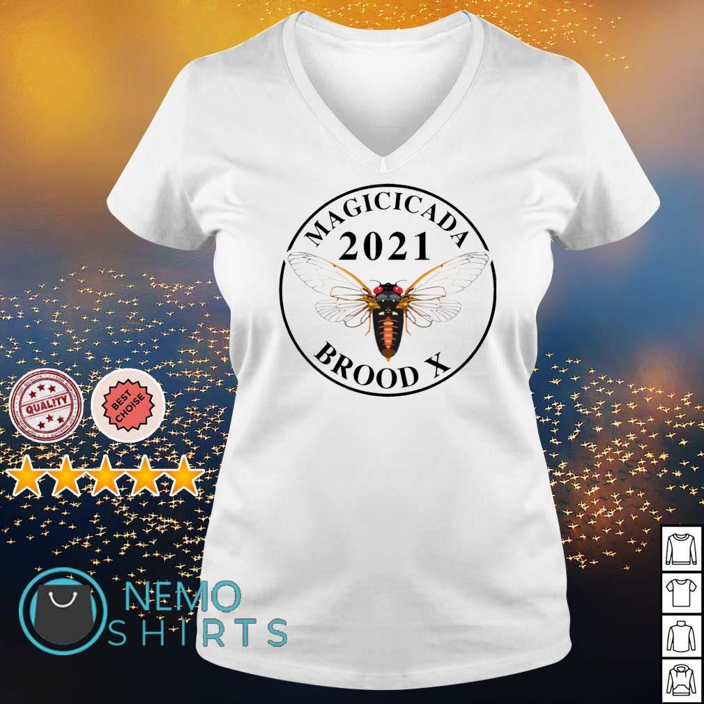 Magicicada 2021 brood X s v-neck-t-shirt