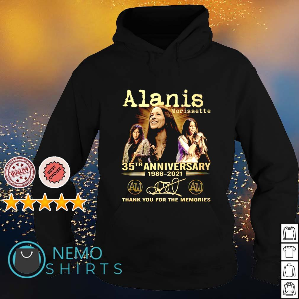 Alanis Morissette 35th Anniversary 1986 2021 thank you for the memories s hoodie