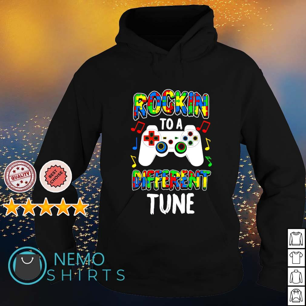Autism Gamer rocking to a different tune s hoodie
