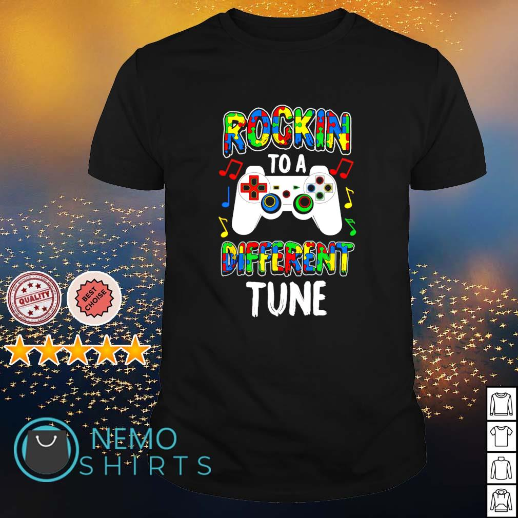 Autism Gamer rocking to a different tune shirt