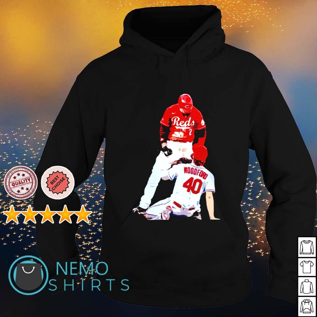 Cincinnati Reds Nick Castellanos suspension vs Cardinals Jake Woodford s hoodie