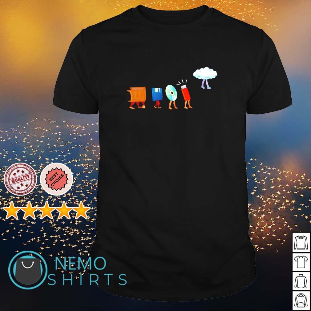 Data storage evolution shirt
