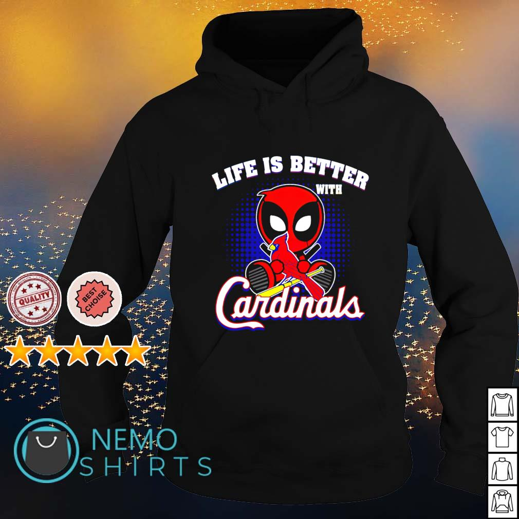 Deadpool life is better with Cardinals s hoodie