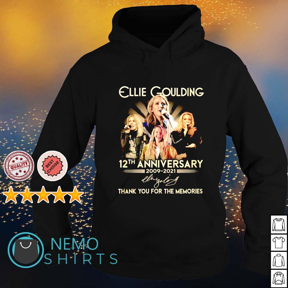 Ellie Goulding 12th Anniversary 2009 2021 thank you for the memories s hoodie