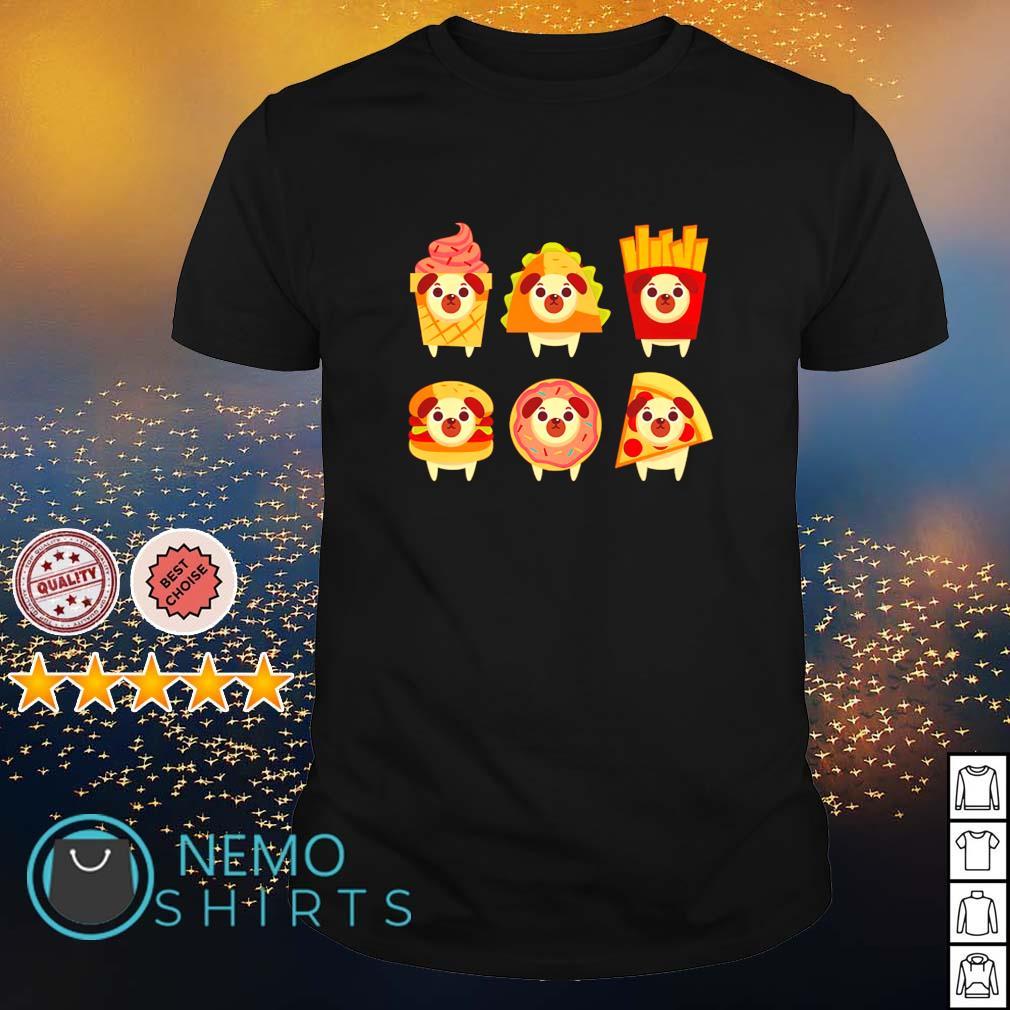 Fastfood pug kids shirt