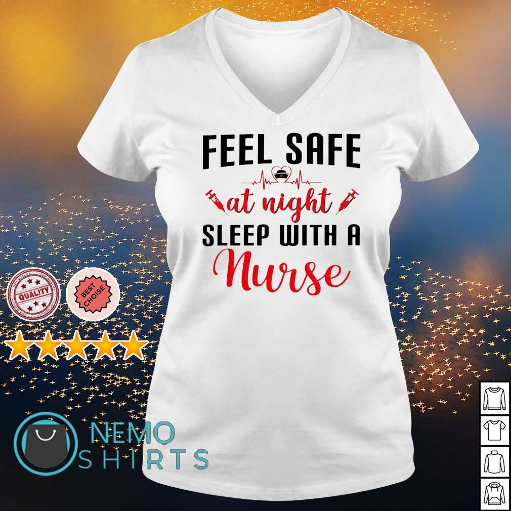 Feel safe at night sleep with a nurse s v-neck-t-shirt