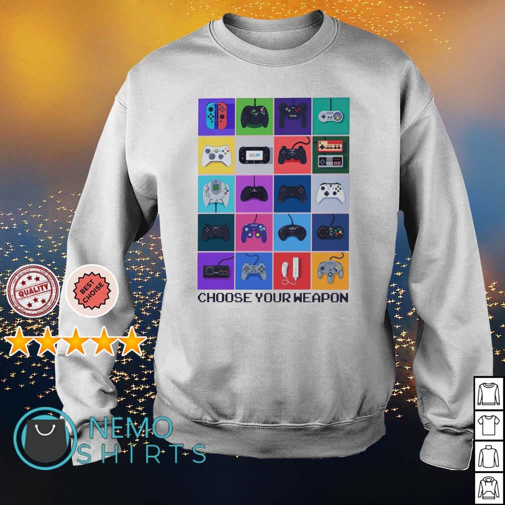 Gamer choose your weapon s sweater