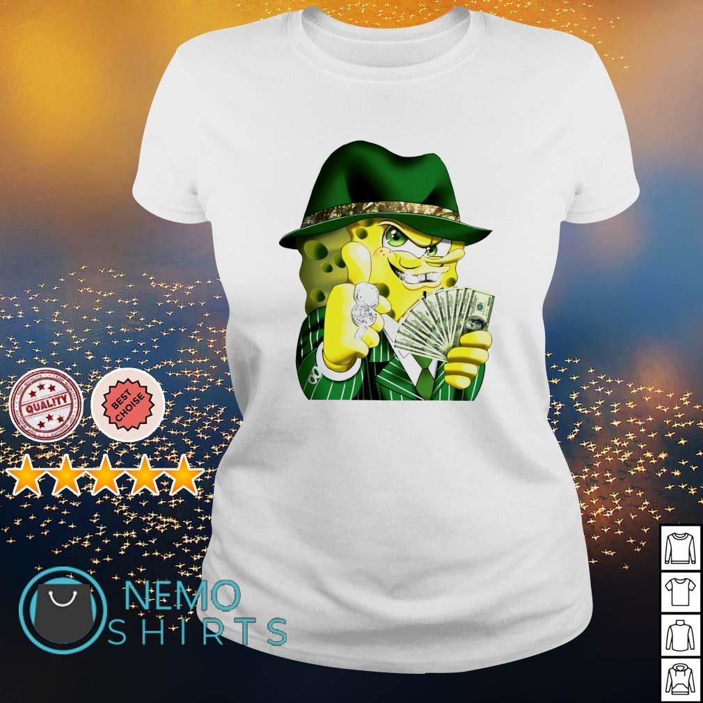 Gangster spongebob s ladies-tee