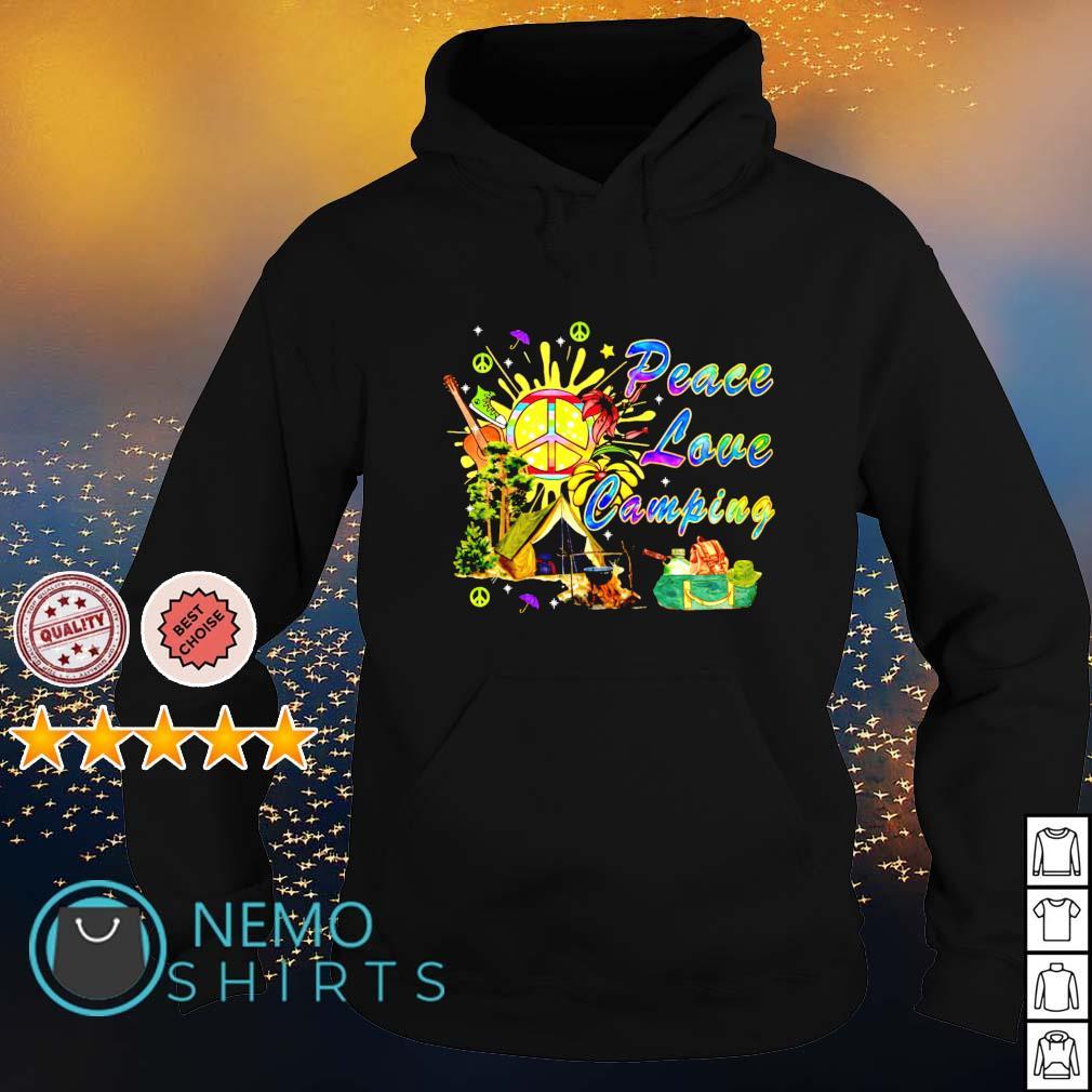 Hippie peace love camping s hoodie