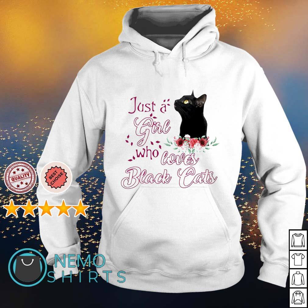 Just a girl who loves black cats s hoodie